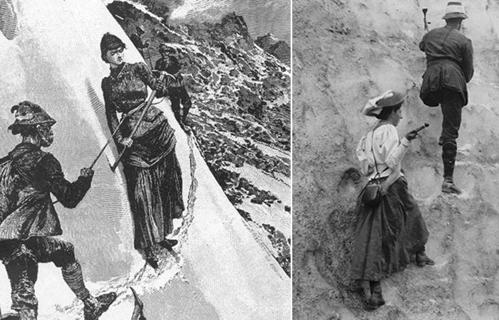 Альпинистки в юбках - отважные покорительницы горных вершин.